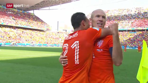 Video «Fussball: FIFA WM 2014, Spielbericht Niederlande - Chile» abspielen