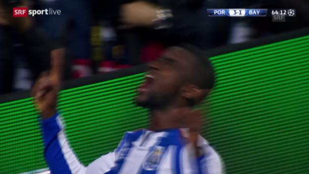 Video «Fussball: CL-Achtelfinal, Porto - Bayern, die Live-Highlights» abspielen