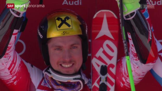 Video «Ski alpin: Riesenslalom Männer in Alta Badia» abspielen
