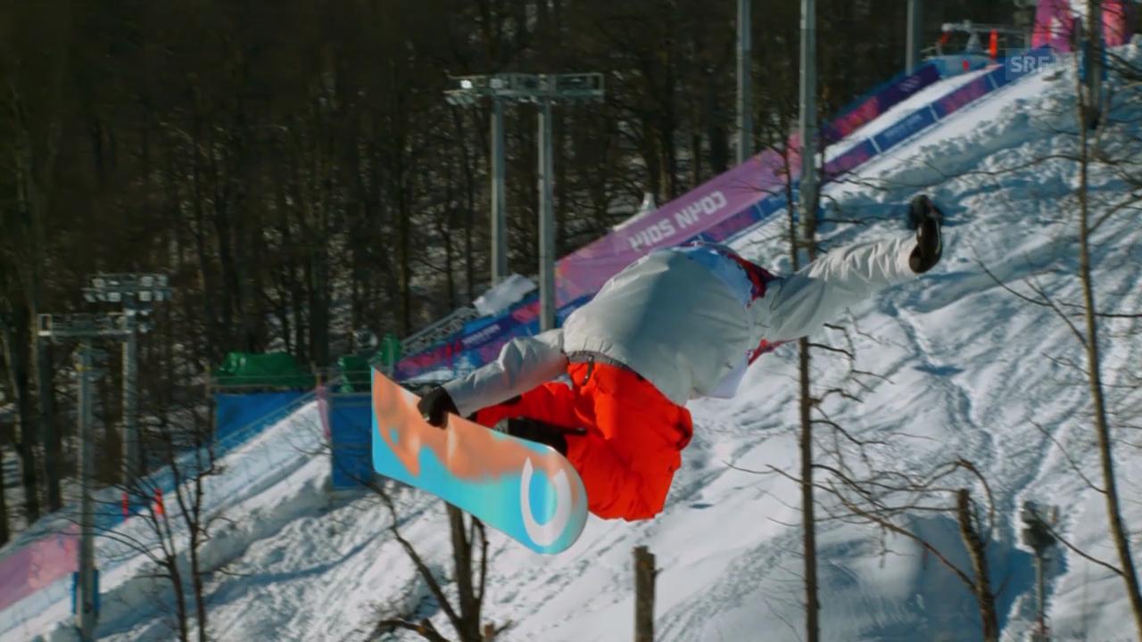 Sotschi: Snowboard Slopestyle Männer, Qualifikation, 1. Lauf Lucien Koch