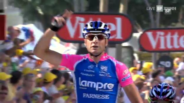 Video «Rad: Petacchis letzter Tour-Sieg 2010» abspielen