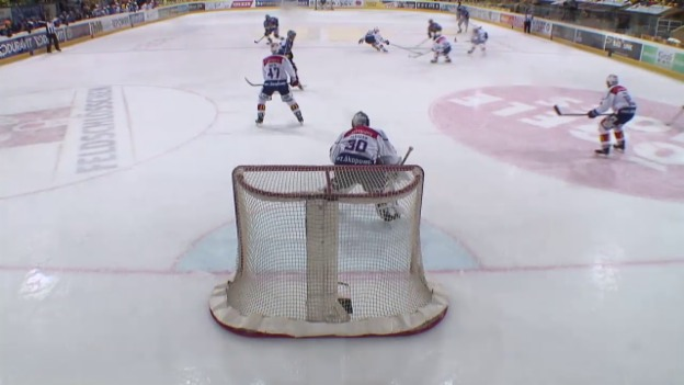 Video «Eishockey: 2. Playoff-Final 2015, HCD – ZSC, 2:2 Schneeberger» abspielen