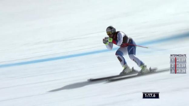 Video «Ski: Abfahrt Beaver Creek, Fahrt von Beat Feuz» abspielen