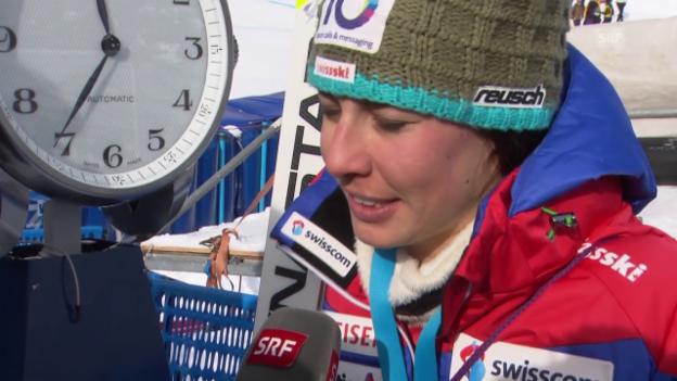 Video «Ski Alpin: Super-G in Cortina, Interview mit Dominique Gisin» abspielen