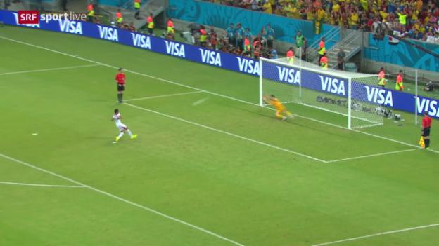 Video «FIFA WM 2014: Costa Rica - Griechenland: Das Penaltyschiessen» abspielen