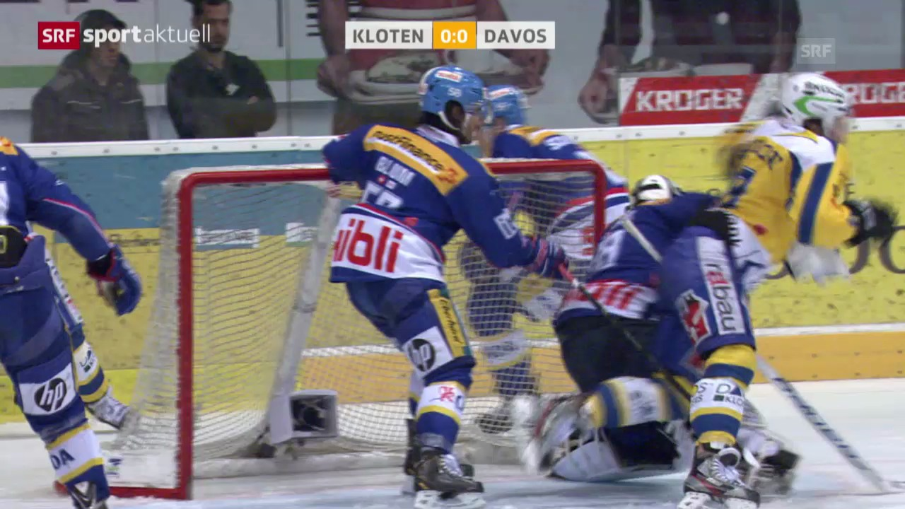Eishockey: Gerbers Schlag gegen Sciaroni («sportaktuell», 15.03.14)