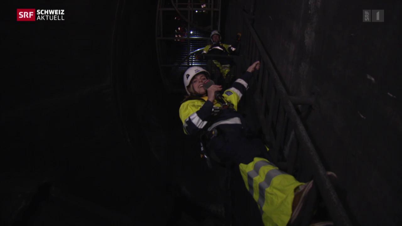 Die unbekannte Seilbahn im Gubristtunnel