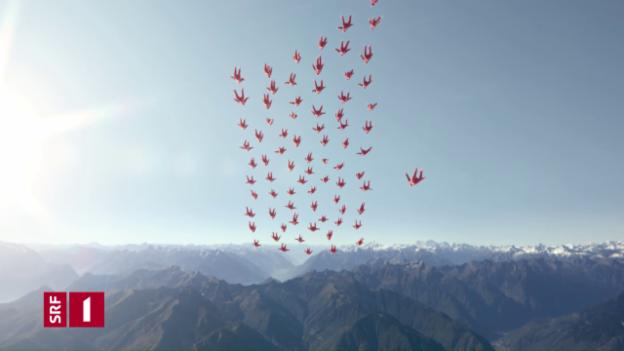 Video «Station Ident SRF 1: Fallschirm» abspielen