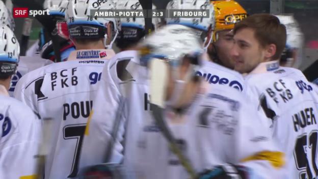 Video «Eishockey: Ambri-Fribourg («sportaktuell»)» abspielen