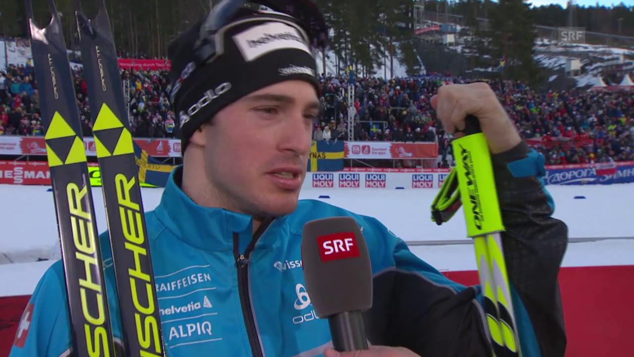 Langlauf: WM-Teamsprint, Interview Gianluca Cologna