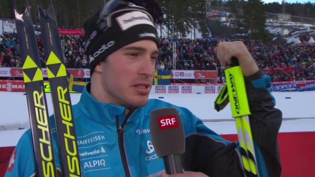 Video «Langlauf: WM-Teamsprint, Interview Gianluca Cologna» abspielen