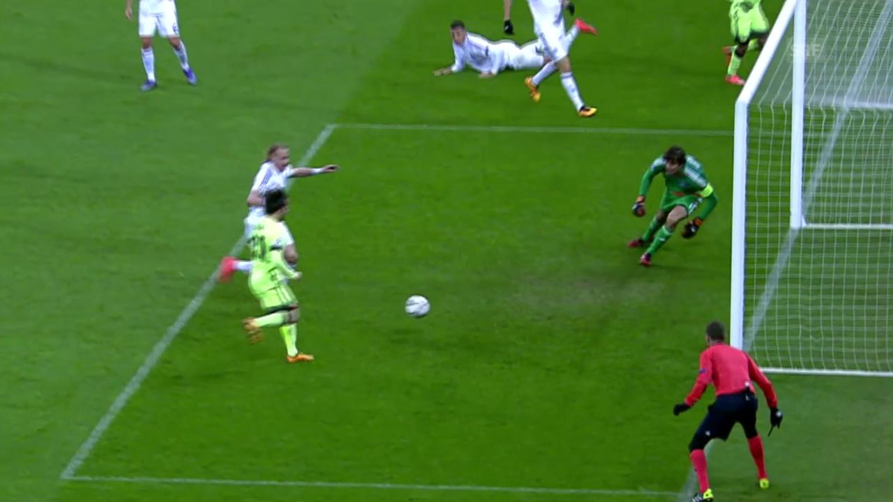 David Silva schliesst schönen Spielzug zum 2:0 ab
