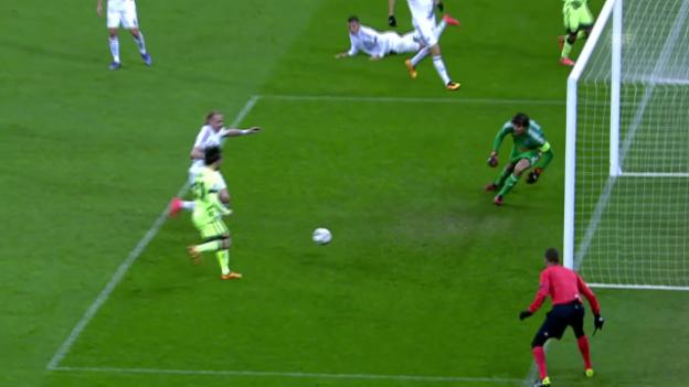 Video «David Silva schliesst schönen Spielzug zum 2:0 ab» abspielen