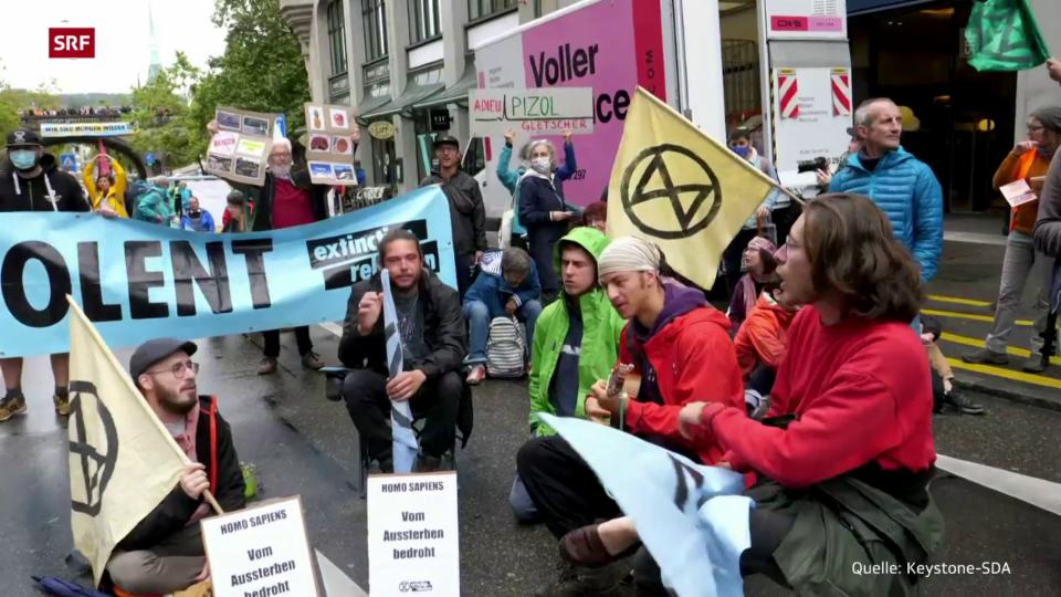 Archiv: «Extinction Rebellion» blockiert am Montag Zürcher Verkehr