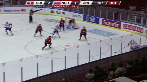 Video «Eishockey: U20-WM, Schweiz - Norwegen («sportlive» vom 30.12.2013)» abspielen