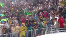 Video «Das Tollhaus nach verwertetem Matchball» abspielen