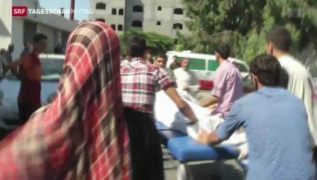 Video «Wieder heftige Angriffe auf den Gaza-Streifen» abspielen