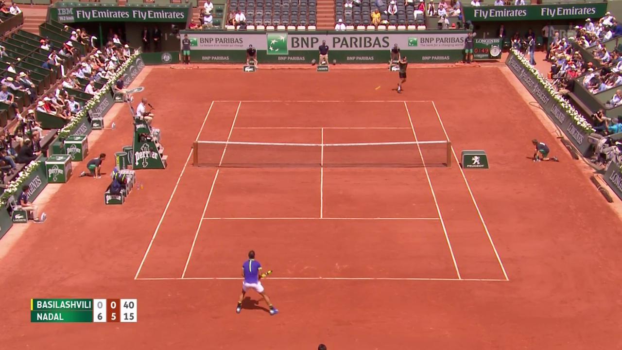 Nadal in 90 Minuten zum 6:0, 6:1, 6:0