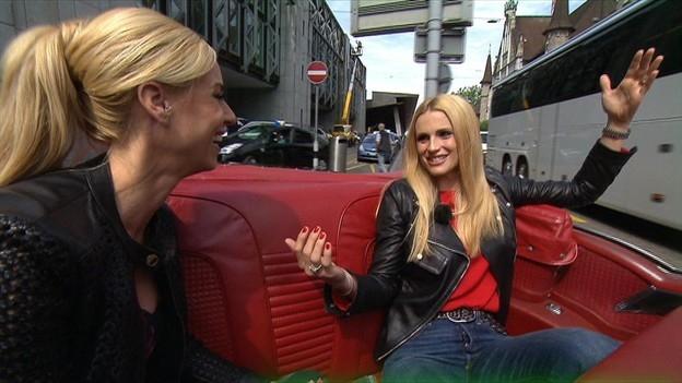 «G&G Weekend»: Nicole Berchtold im Cabrio mit Michelle Hunziker