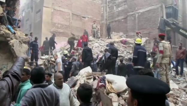 Video «Hauseinsturz in Kairo» abspielen