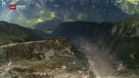 Video «Bondo: Weitere Felsstürze drohen» abspielen