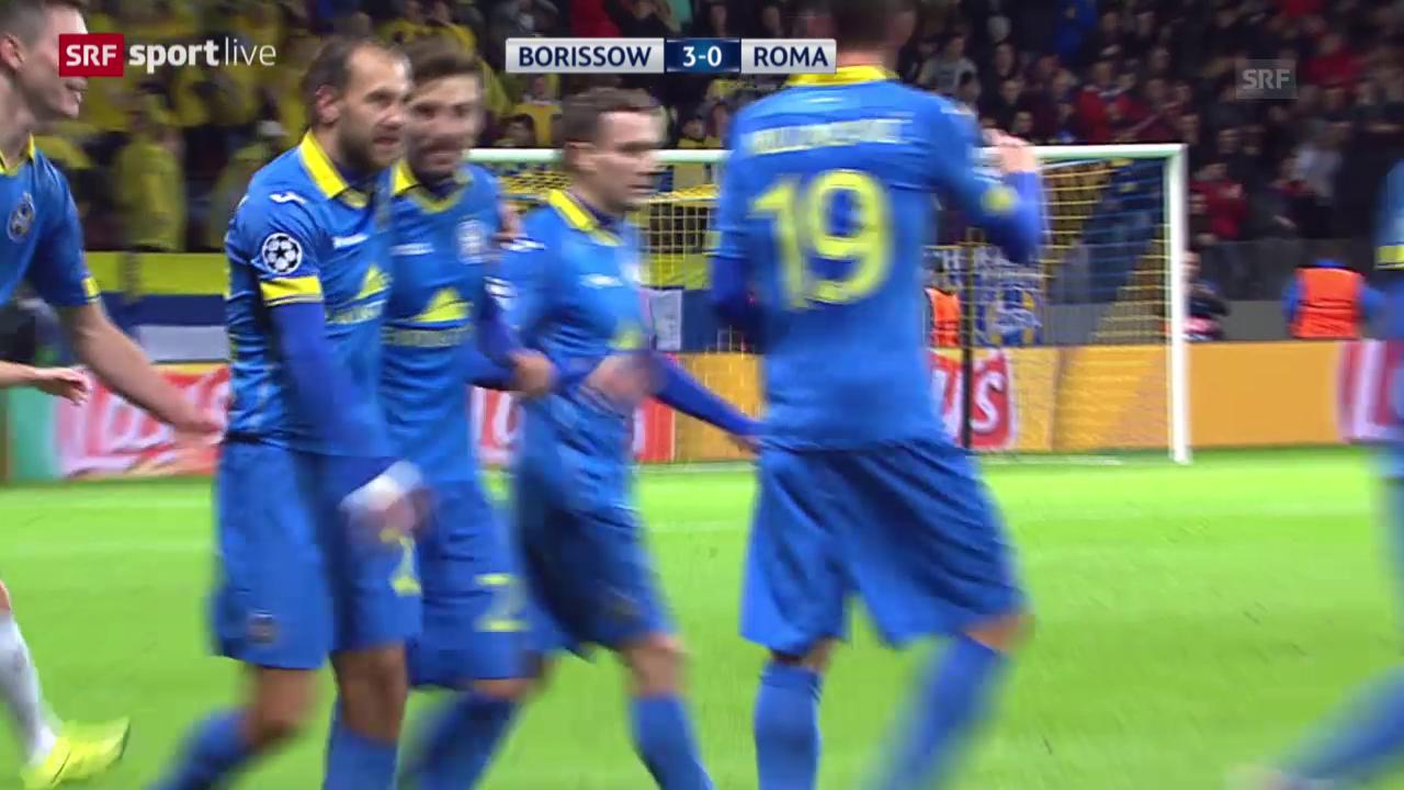 Fussball: CL, Bate-Roma