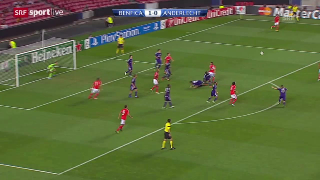 CL: Benfica Lissabon - Anderlecht