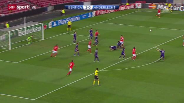 Video «CL: Benfica Lissabon - Anderlecht» abspielen