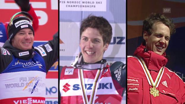Video «Ski nordisch: Vorschau auf die WM 2015 in Falun mit den letzten 3 Schweizer Medaillengewinnern» abspielen
