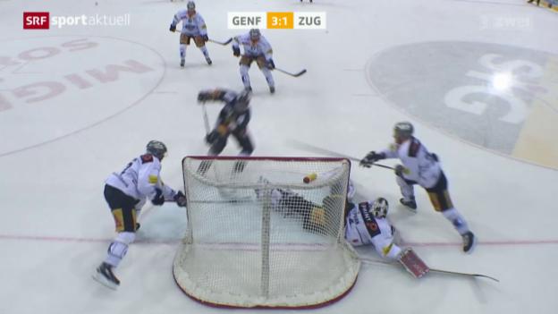 Video «Eishockey: Genf-Zug» abspielen