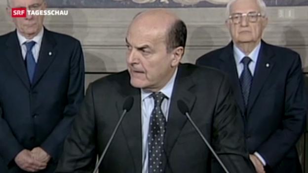 Video «Bersani soll Italiens neue Regierung bilden» abspielen
