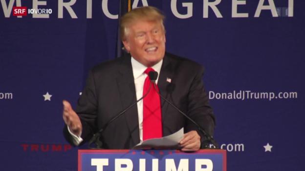 Video «Trump will Einreiseverbot für Muslime» abspielen