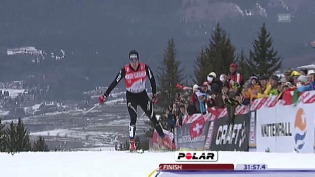 Video «Langlauf: Tour de Ski 2010/11, Gesamtsieg Dario Cologna» abspielen