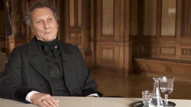 Video «Interview mit Stefano Franscini, gespielt von Roberto Turri» abspielen
