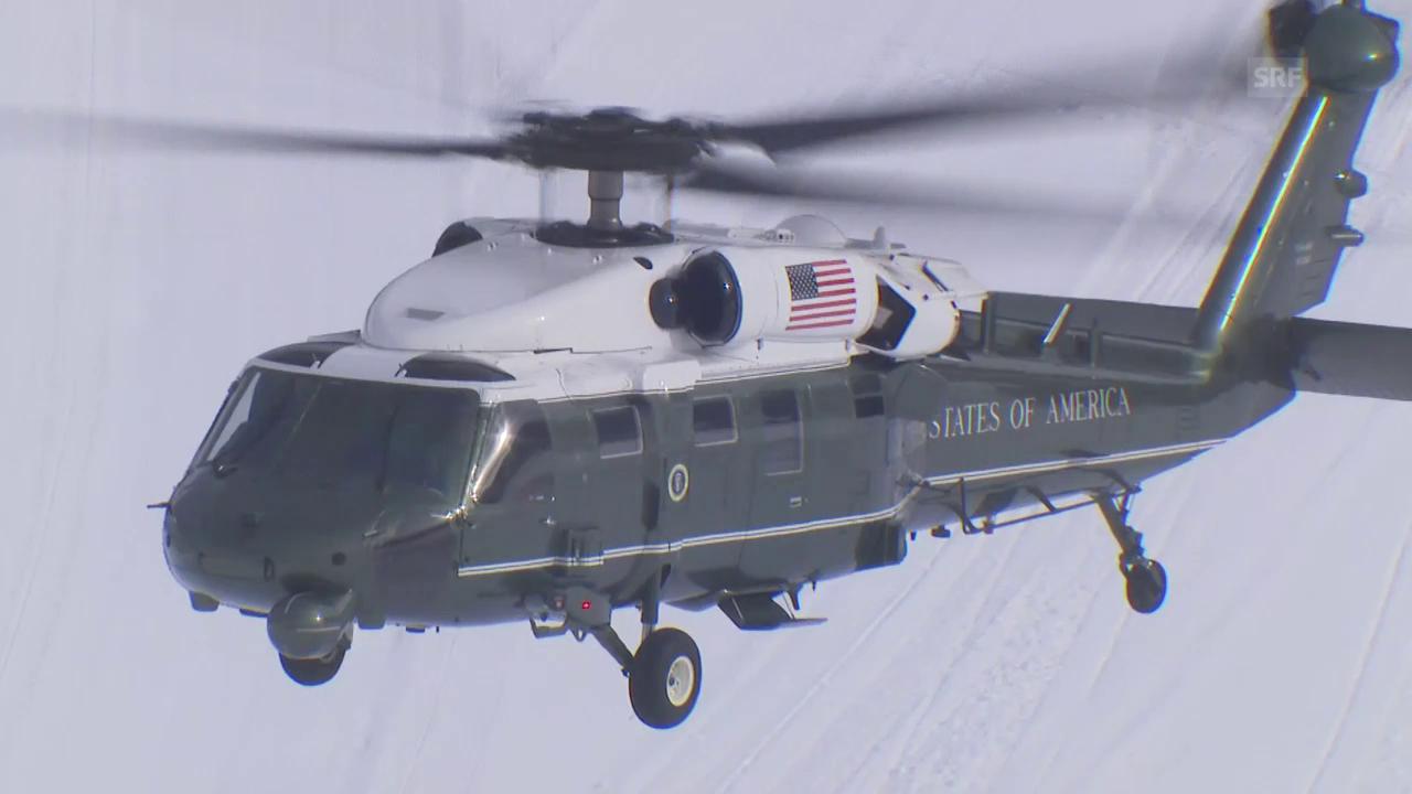 Trump landet in Davos
