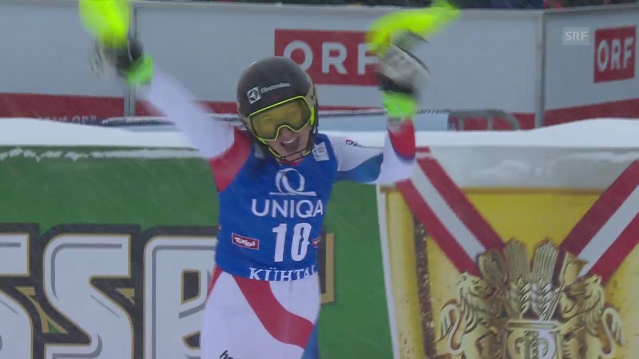 Ski: Slalom Frauen Kühtai, 2. Lauf Holdener
