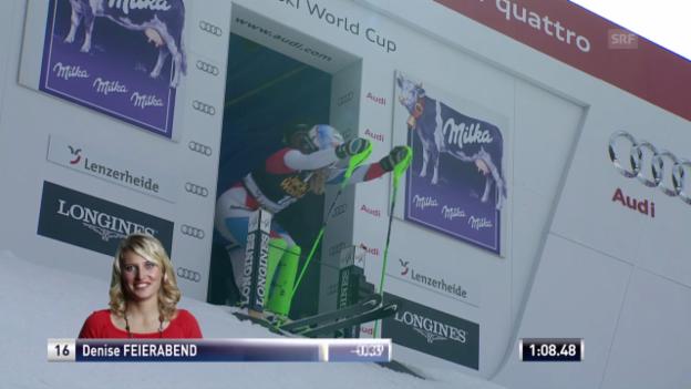 Video «Ski Alpin: Slalom Lenzerheide, 2. Lauf Feierabend («sportlive», 15.03.2014)» abspielen
