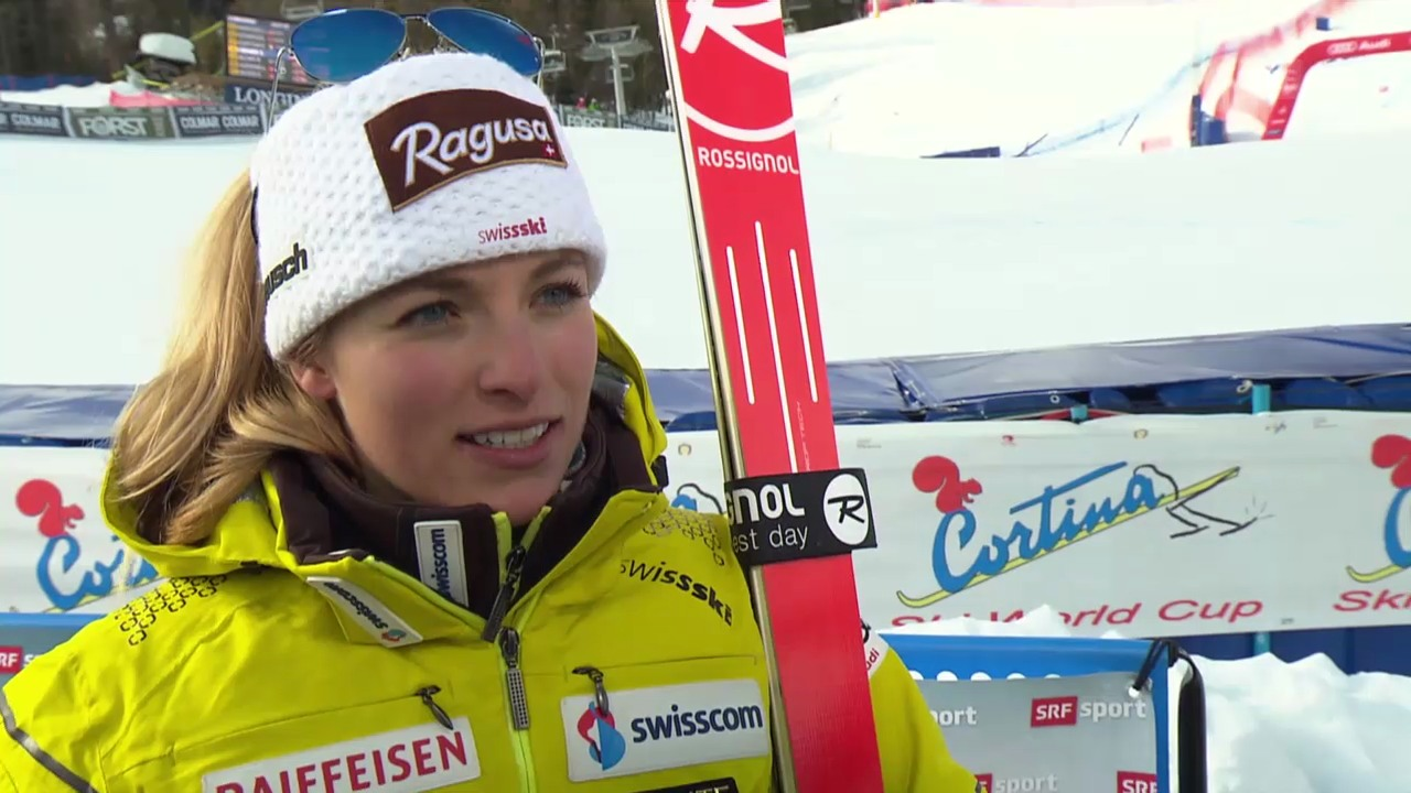 Ski Alpin: Weltcup Cortina, Super-G, Interview Lara Gut («sportlive» 26.1.2014)