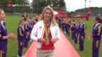 Video «Empfang von Giulia Steingruber» abspielen