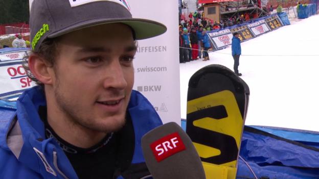 Video «Luca Aerni nach Adelboden-Slalom: «Ich will mehr»» abspielen