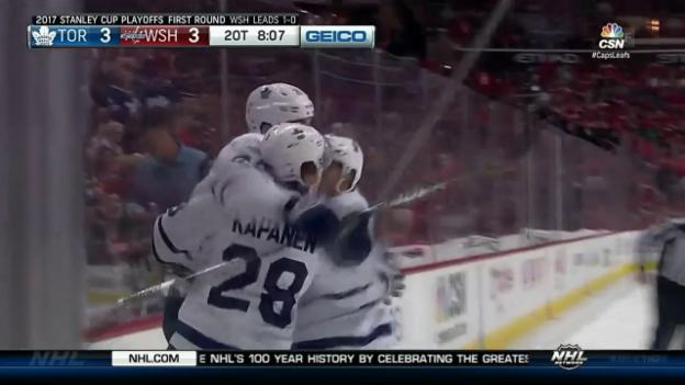 Video «Kapanen trifft in der 2. Overtime» abspielen