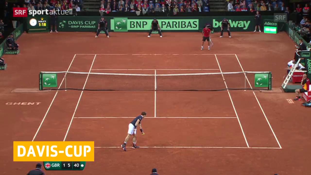 Davis Cup: Nach dem 1. Finaltag steht es 1:1
