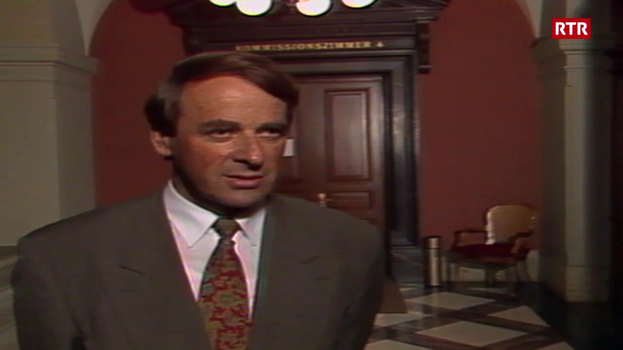 Adolf Ogi en la Tagesschau (1989)
