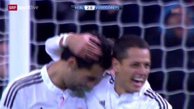 Video «Fussball: Zusammenfassung Real Madrid - Ludogorets» abspielen