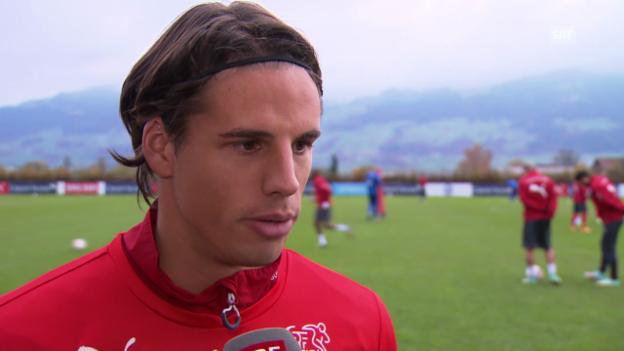 Video «Fussball: Yann Sommer vor dem Spiel gegen Litauen» abspielen