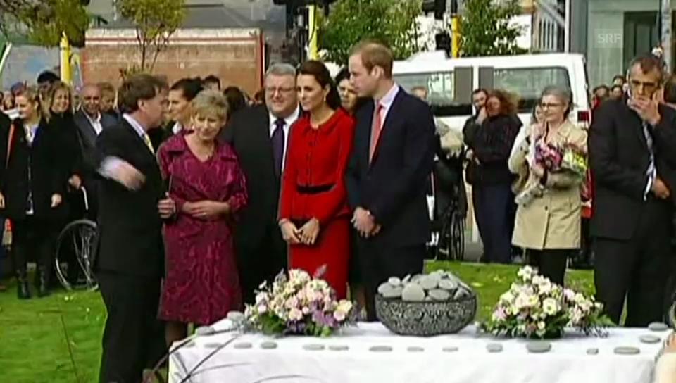 Kate und William in Christchurch