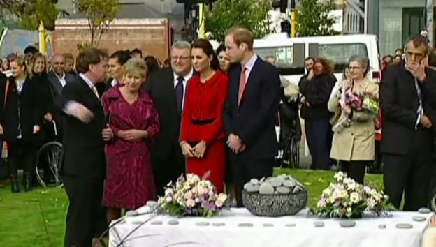 Video «Kate und William in Christchurch» abspielen
