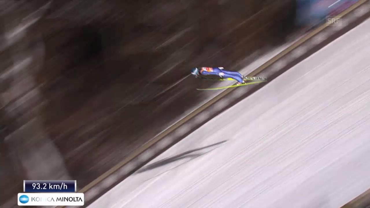Skispringen: Vierschanzentournee Bischofshofen, der 2. Sprung von Michael Hayböck