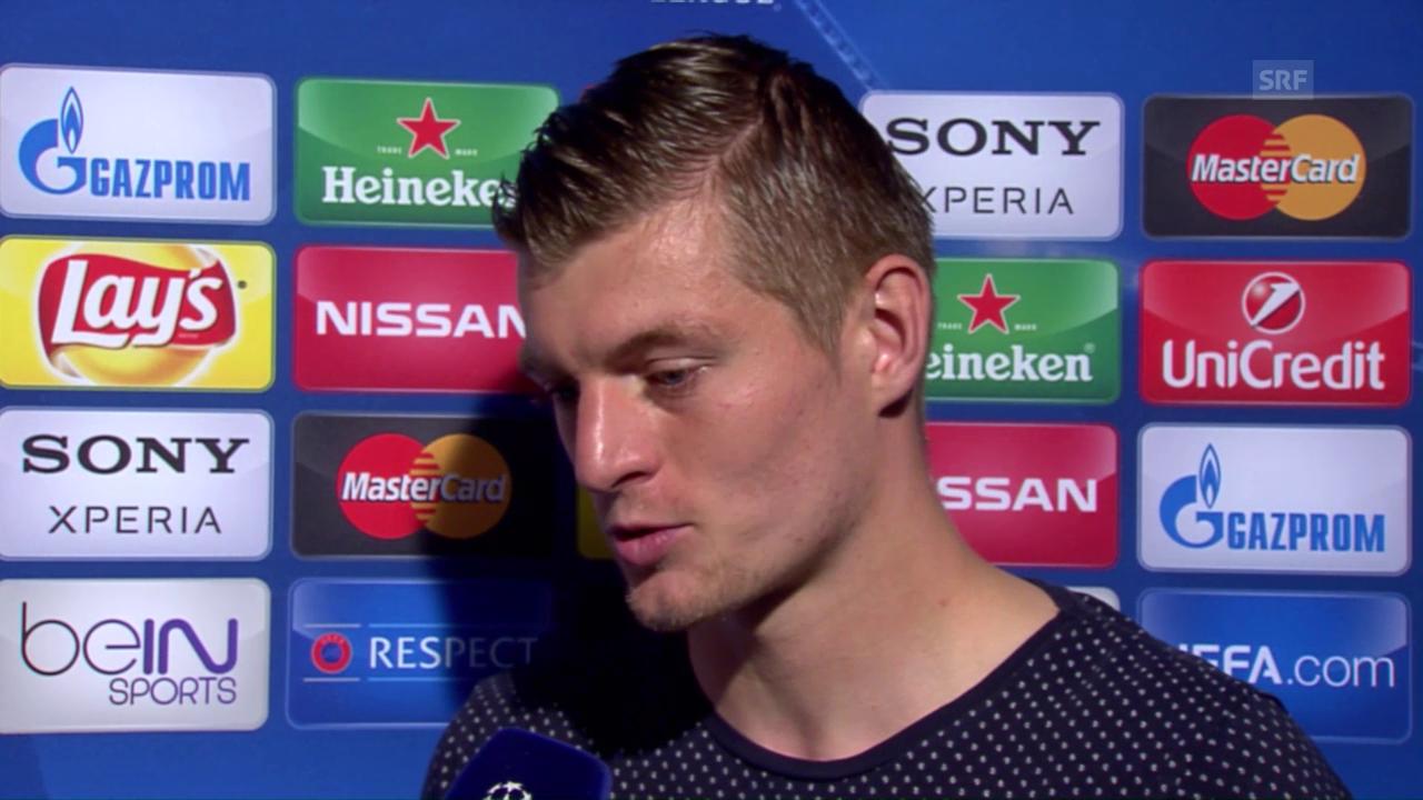 Toni Kroos mit einem Ausblick auf das Madrider CL-Endspiel
