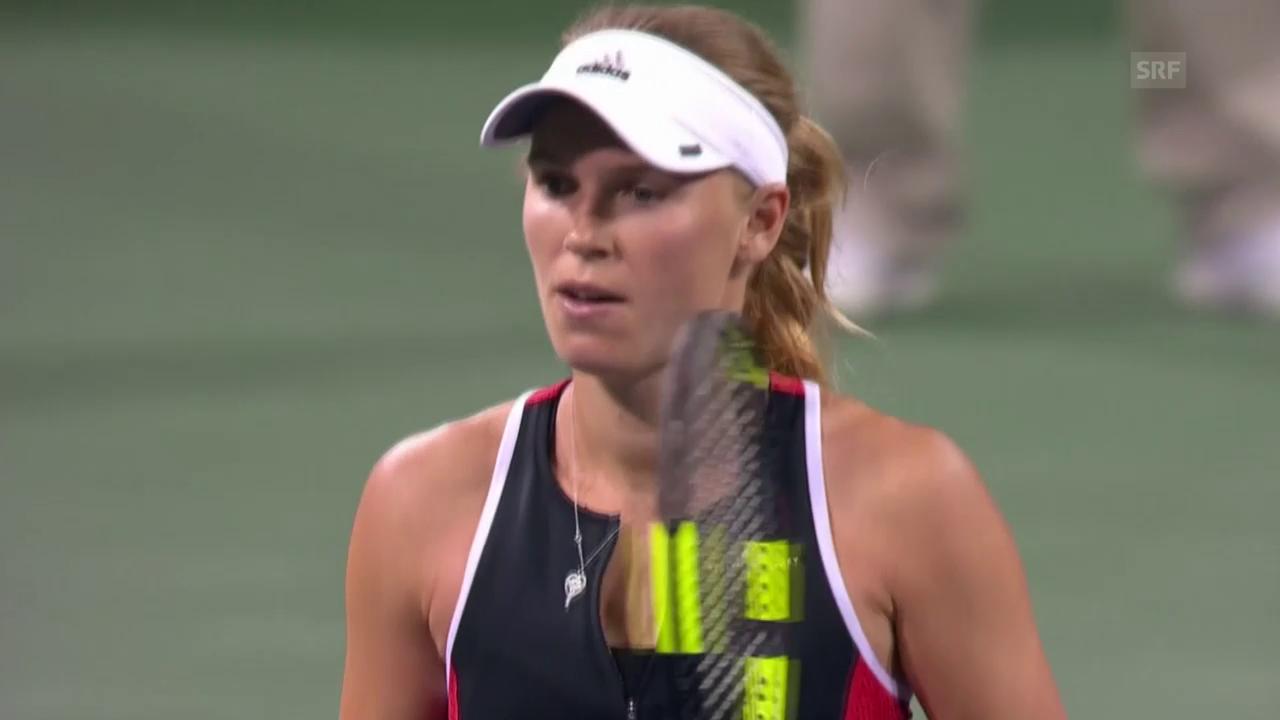 Kassatkina - Wozniacki: Die wichtigsten Ballwechsel